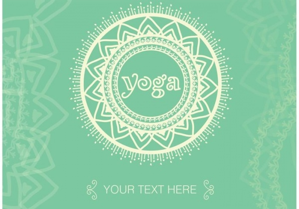 Boho Yoga Meditation Vector