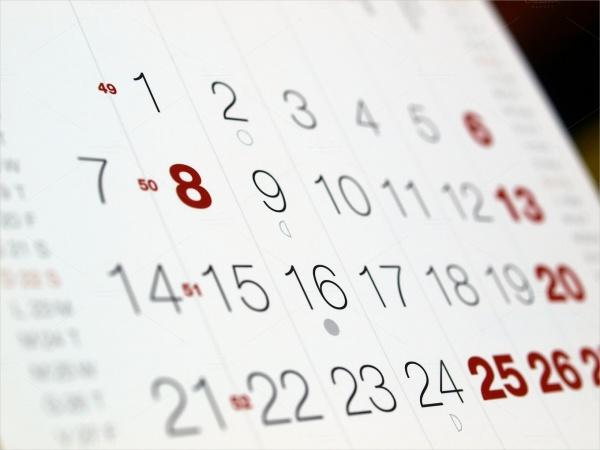 Bookmark event Calendar Design