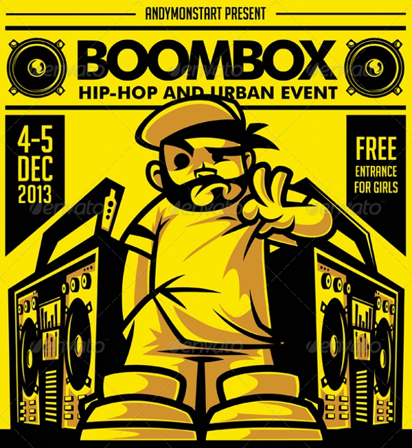 Boombox Hip-Hop and Urban Flyer Design