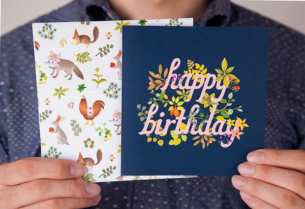 Botanic Birthday Cards 1