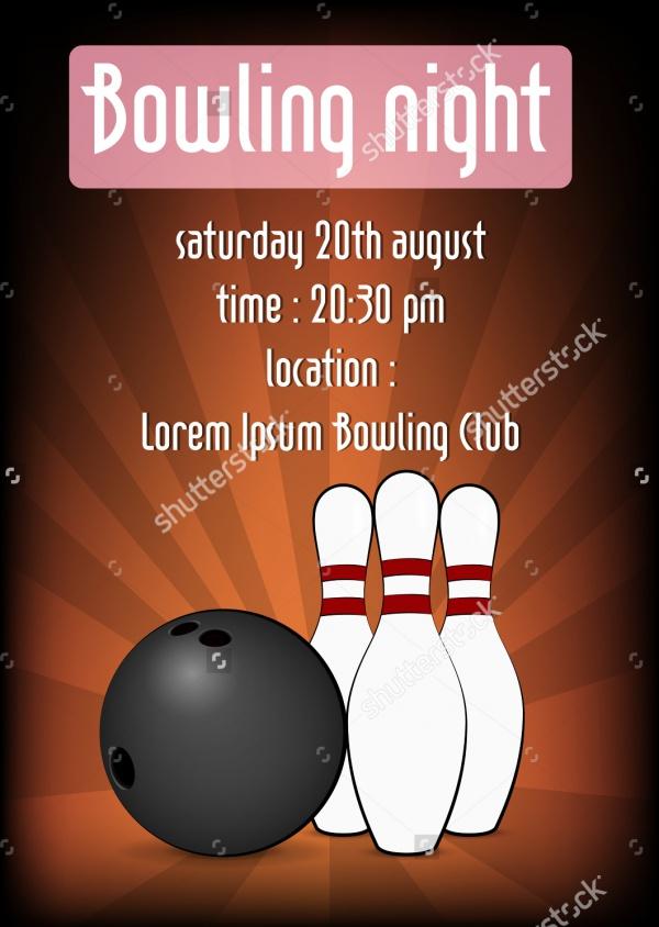 Bowling Night Best Design Invitation