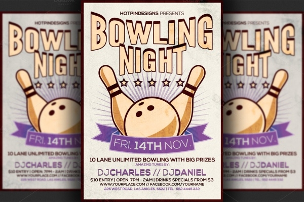 Bowling Night Club Event Flyer