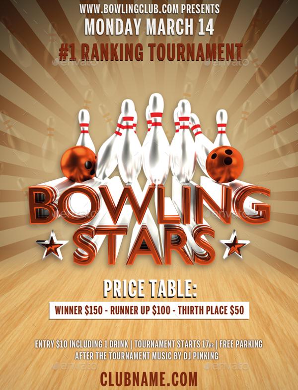 Bowling Stars Flyer Design