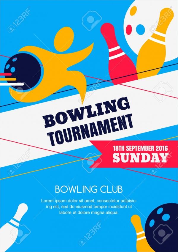 Bowling Tournament Banner Invitation Design