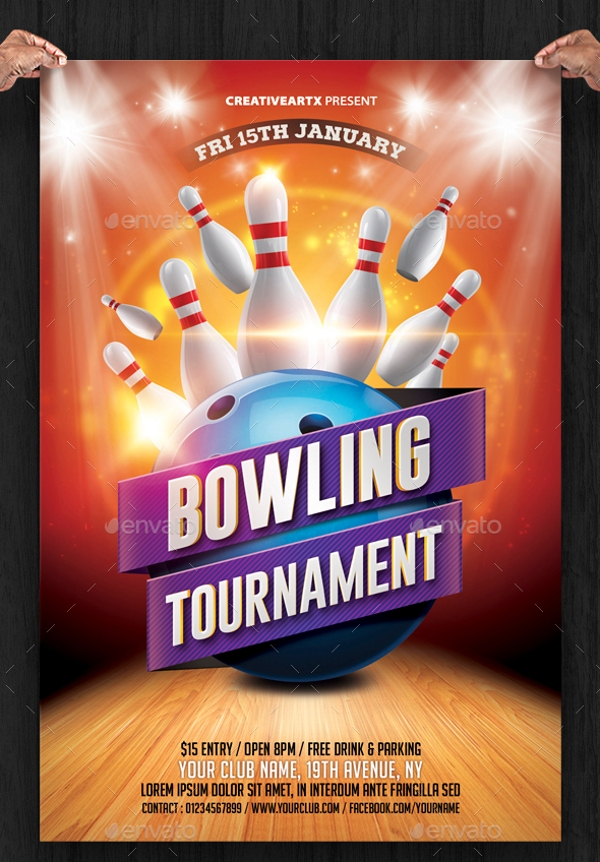 Bowling Tournament Flyer Template Within Bowling Flyer Template Free