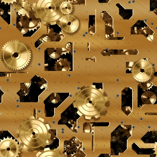 Brass Cogs And Clockwork Texture