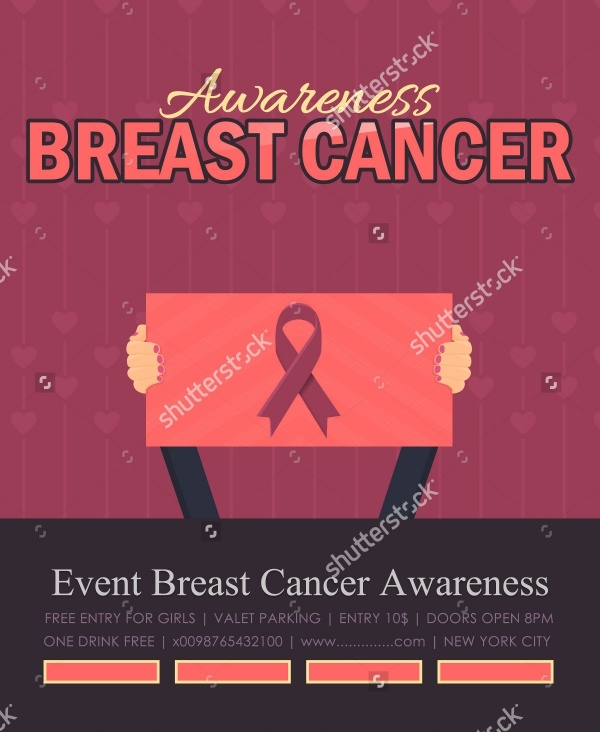 Breast Cancer Ribbon Flyer