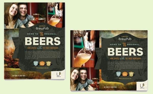 Brewery & Brew Cocktail Pub Flyer