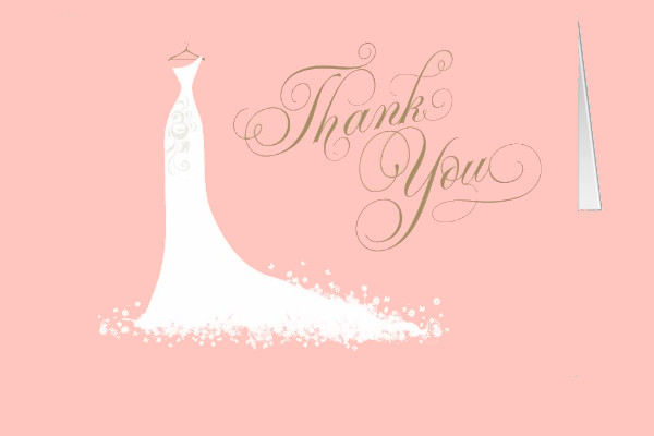 Bridal Shower Folded Thank You Card