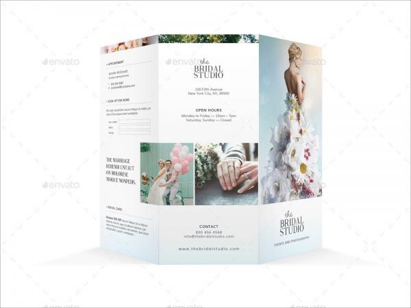 Bridal Studio Tri-fold Brochure