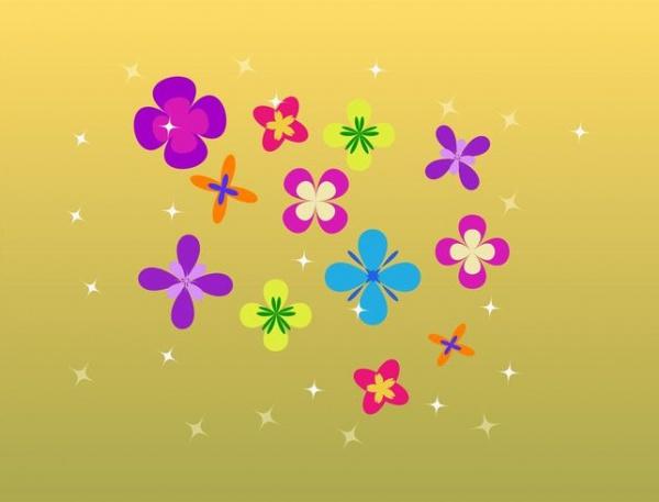 Bright Minimal Flower Illustration