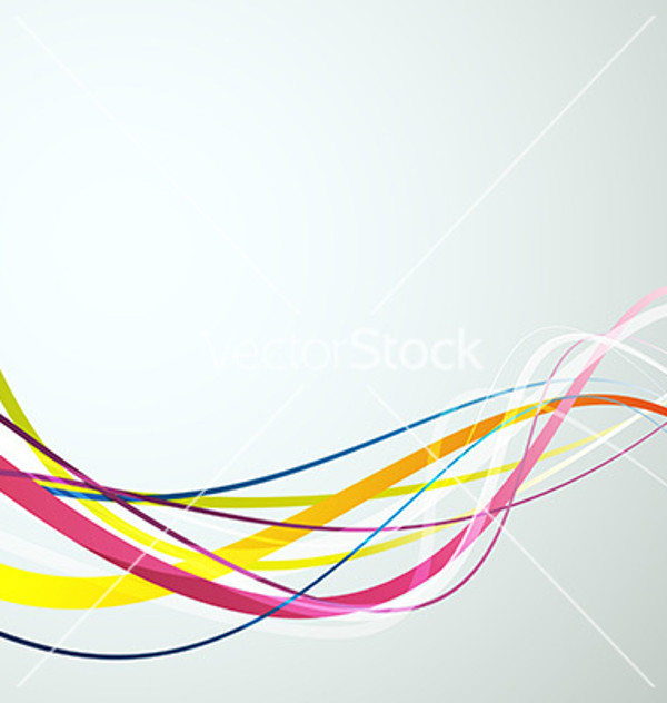 Bright Rainbow Swooshes Vector
