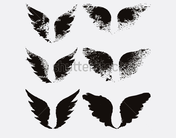 Broken Grunge Wings Brushes
