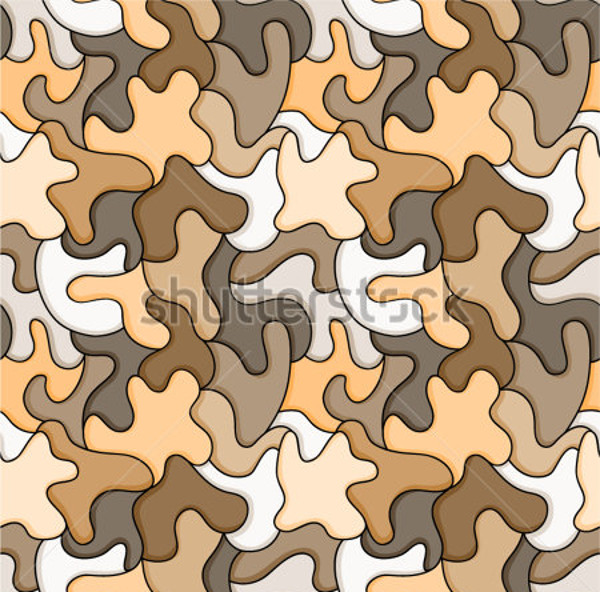 Brown Puzzle Cool Pattern