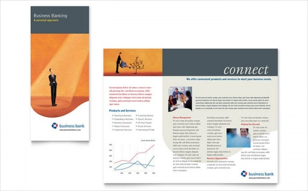 Business Bank Brochure Template Download