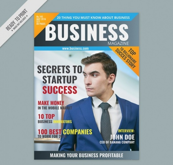 Business Magazine Cover Photography