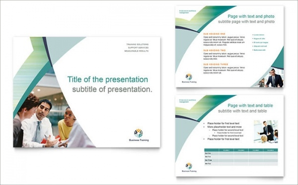 Business Training Presentation Design