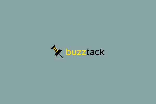 Buzz Pin Tack Graphic Logo