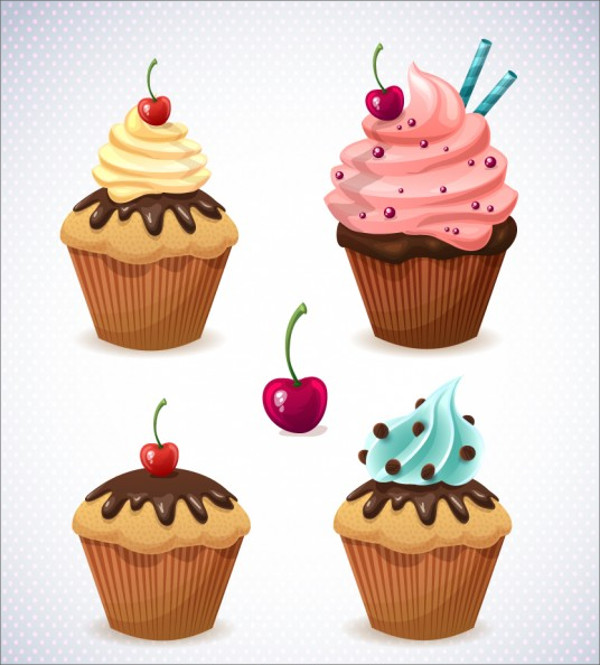 Candy Cupcakes Vector Design