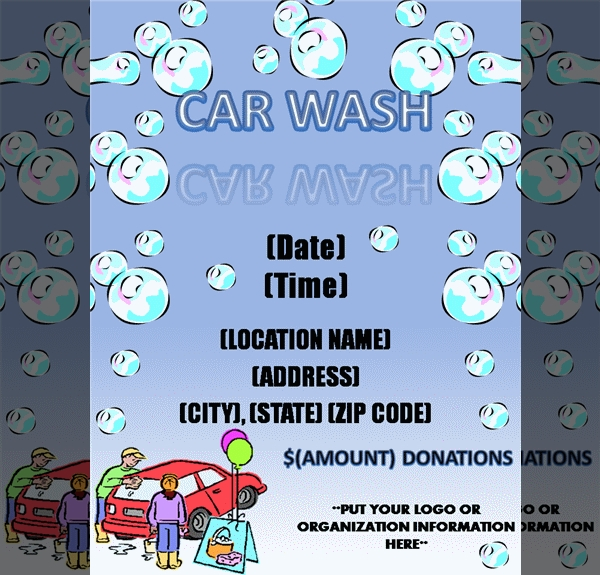 Car Cleaning shops Flyer template