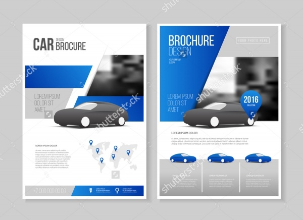 Car Showcase Horizontal Brochure