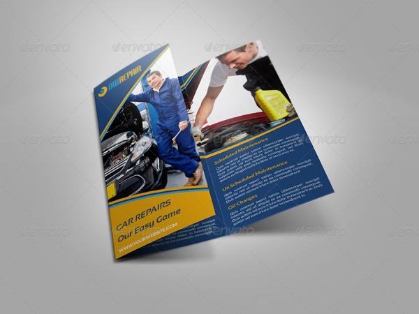 Car TriFold Brochure Design
