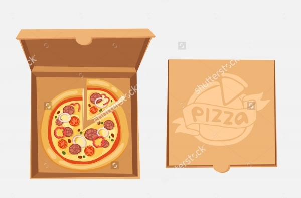 Cardboard Pizza Packaging Design
