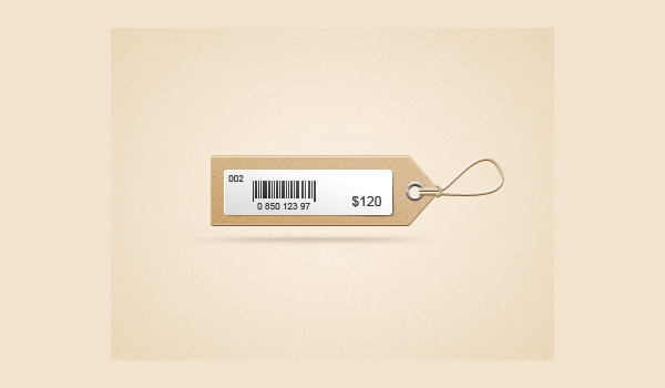 Cardboard Price Tag Design