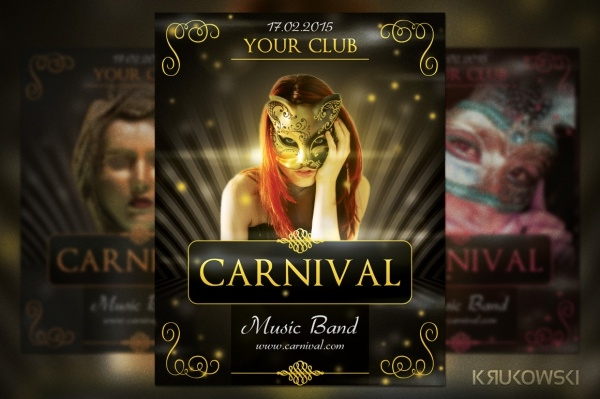 Carnival Party PSD Flyer