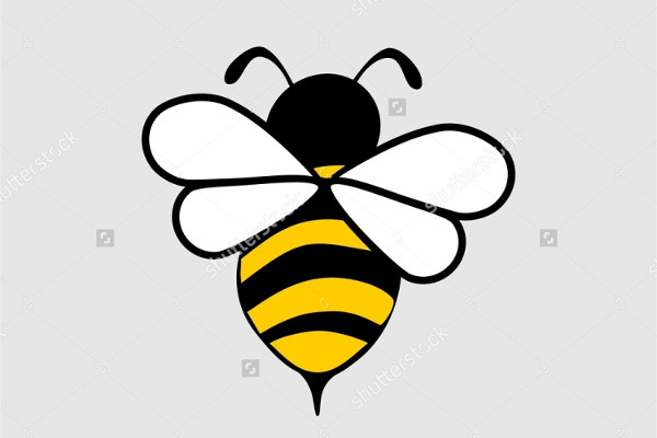 Cartoon Bee Vector Logo