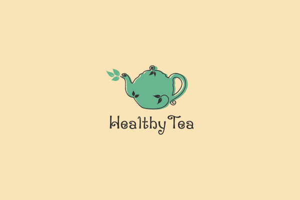 Cartoon Design Tea Logo
