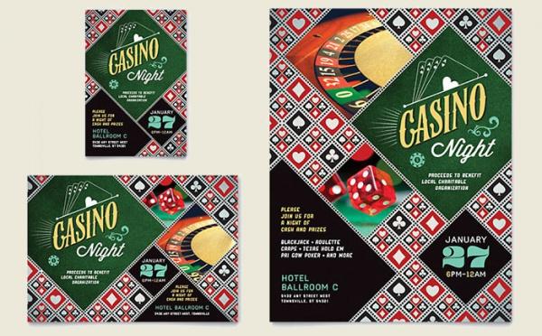 Casino Night Flyer & Ad Template