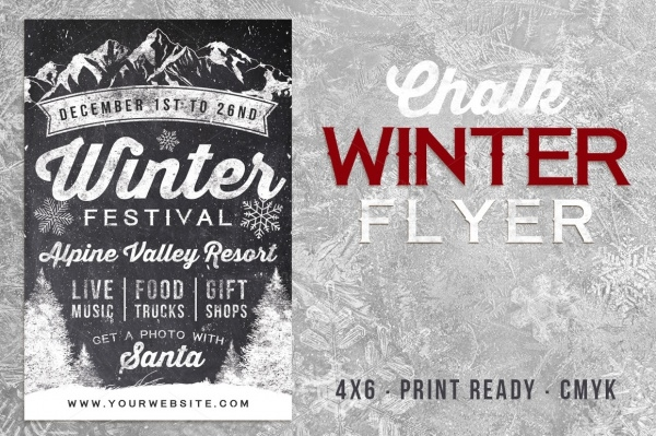Chalk Winter Festival Flyer