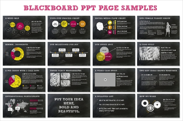 Chalkboard Professional PPT Presentation Template