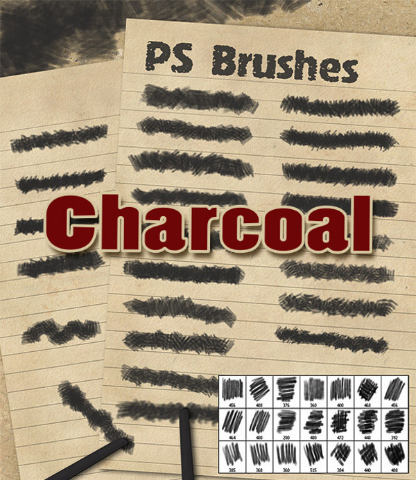 Charcoal Scattering PS Brushes