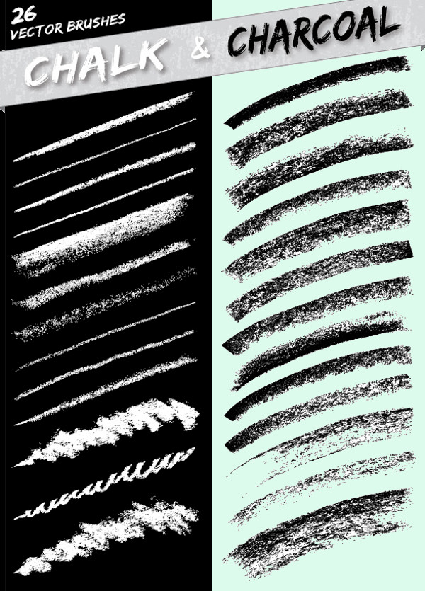 Charcoal Vector Brushes