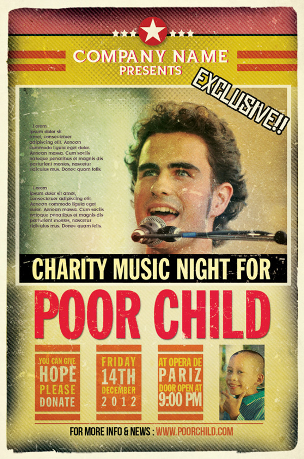 charity event for poor child flyer