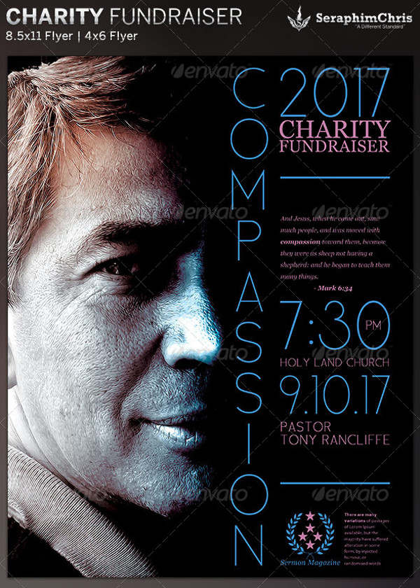 Charity Fundraiser Church Flyer