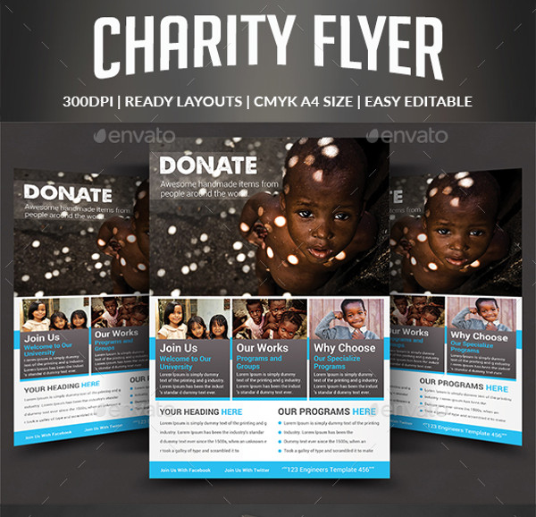 Fundraising Flyer Templates  Psd Vector Eps Jpg Download
