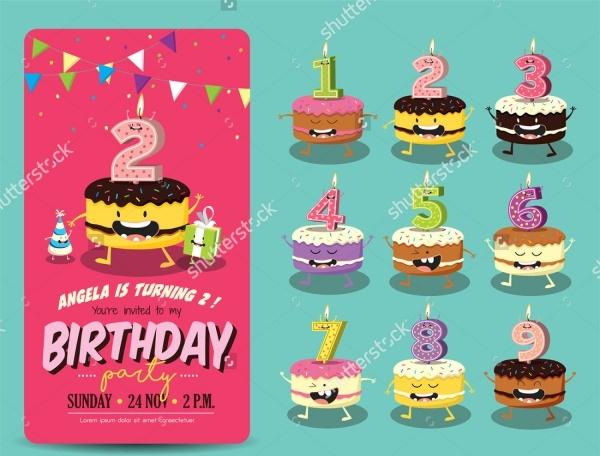 Children Birthday Party Invitation