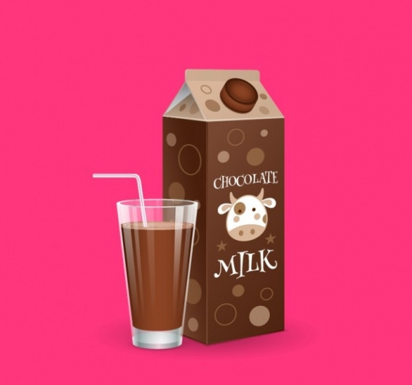 chocolate milkshake packaging box