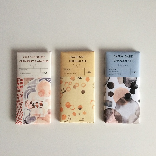 chocolate packaging surface design