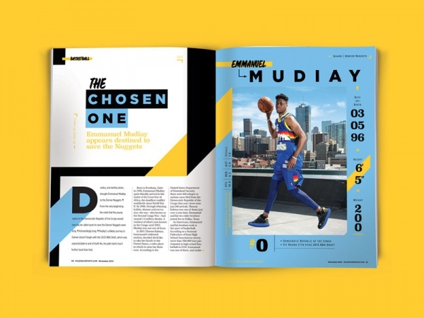 Chosen One Sports Editorial Design