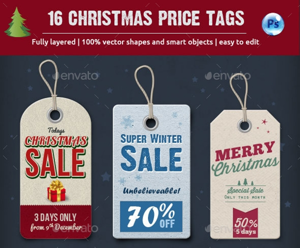 Christmas Price Tag Design