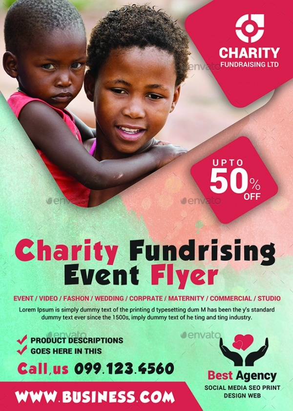 Church Charity Event Flyer Design