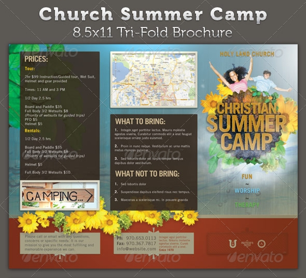 20  summer camp brochures