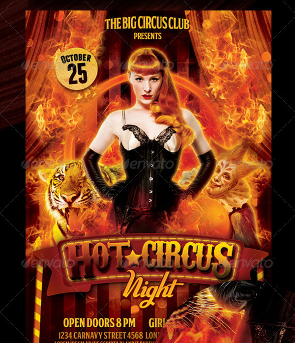 Circus Night Flyer Design