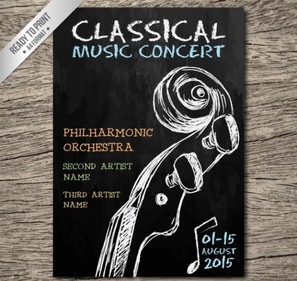 Classical Music Concert Flyer Template