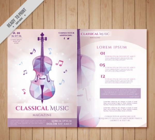 classical music magazine brochure