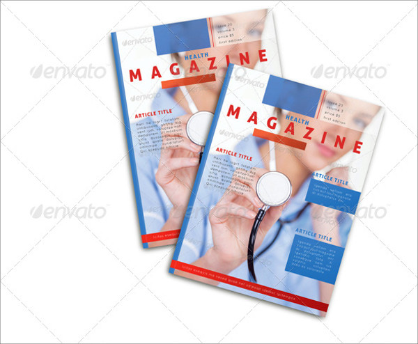 Clean & Modern Health Medical Magazine Template